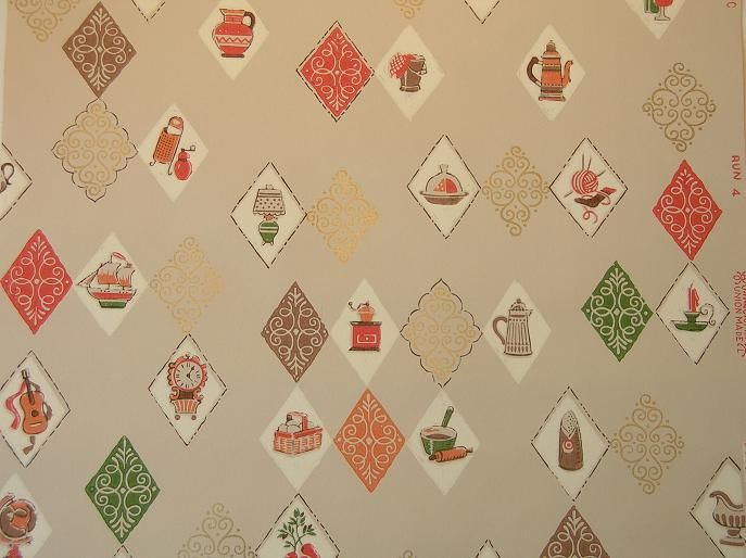 Vintage Wallpaper For Your 50s Kitchen And Bath Another Source Vintage Wallpaper Wallpaper Cute Wallpapers