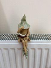 Fairy garden shy fairy plant pot ornament ideal gift for her garden or home Aus Steinzeugton und 1220  c im Elektroofen gebrannt Ich habe diese kleine schüchtern Fee...