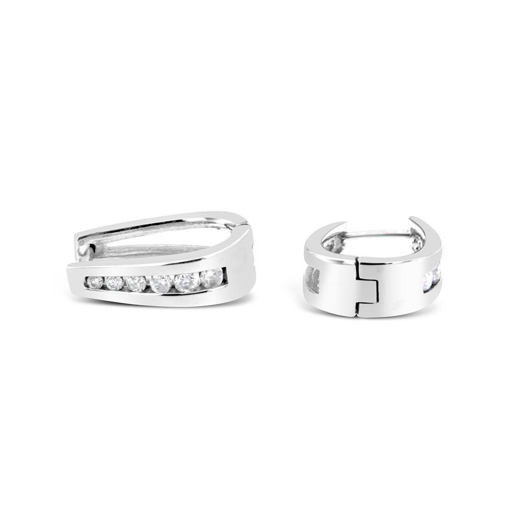 14k White Gold 1/2ct TDW Round Diamond Earrings (I-J I2-I3) (Round Diamond Earrings), Women's, Size: Medium