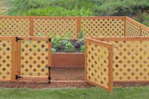 Elegant H H Western Red Cedar Flat Top Diagonal Lattice Fence Gate | Lattice Fence,  Fence Gate And Western Red Cedar