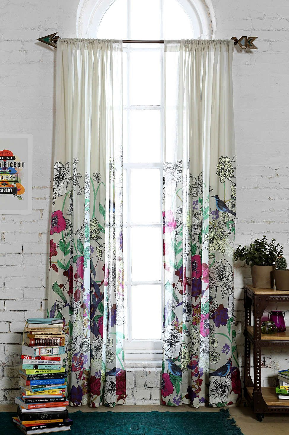 Plum & Bow Forest Critter Curtain - Urban Outfitters