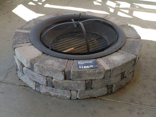 Enclose fire pit with stone