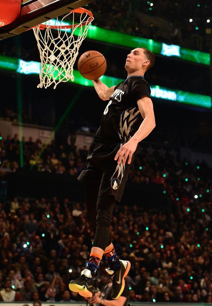Zach Lavine Wearing Nike Kobe X 10 All Star 1 Nba Slam Dunk