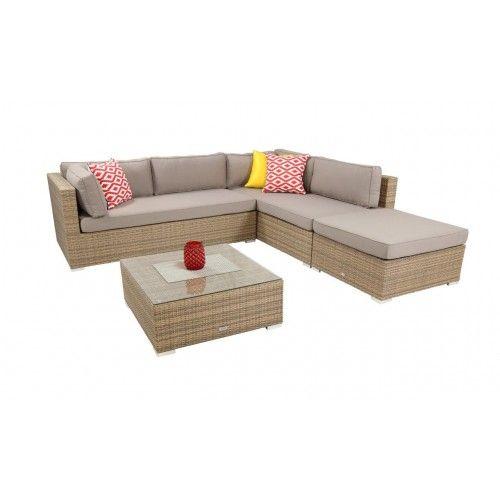Rialto wicker & Sunbrella lounge setting | Outdoor ...