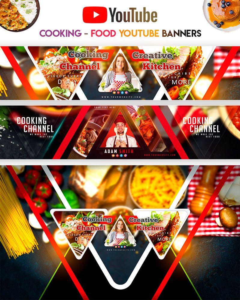 Cooking Food Youtube Banners Disenos De Unas Diseno Editorial Plantas
