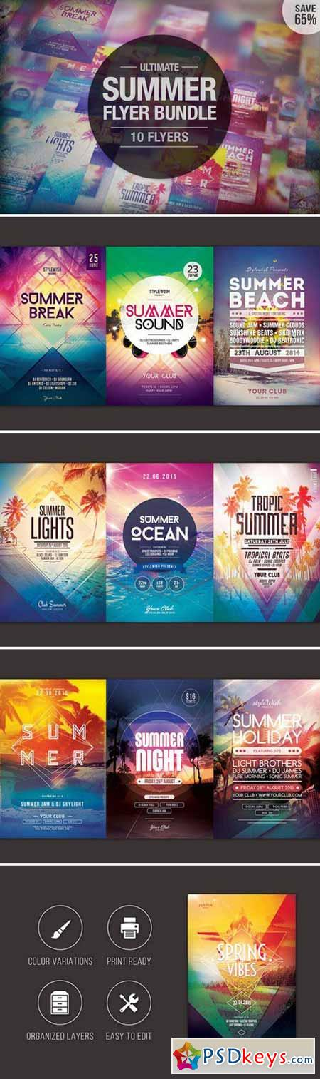 Ultimate Summer Flyer Bundle 358166 Psd Pinterest Print - summer flyer template