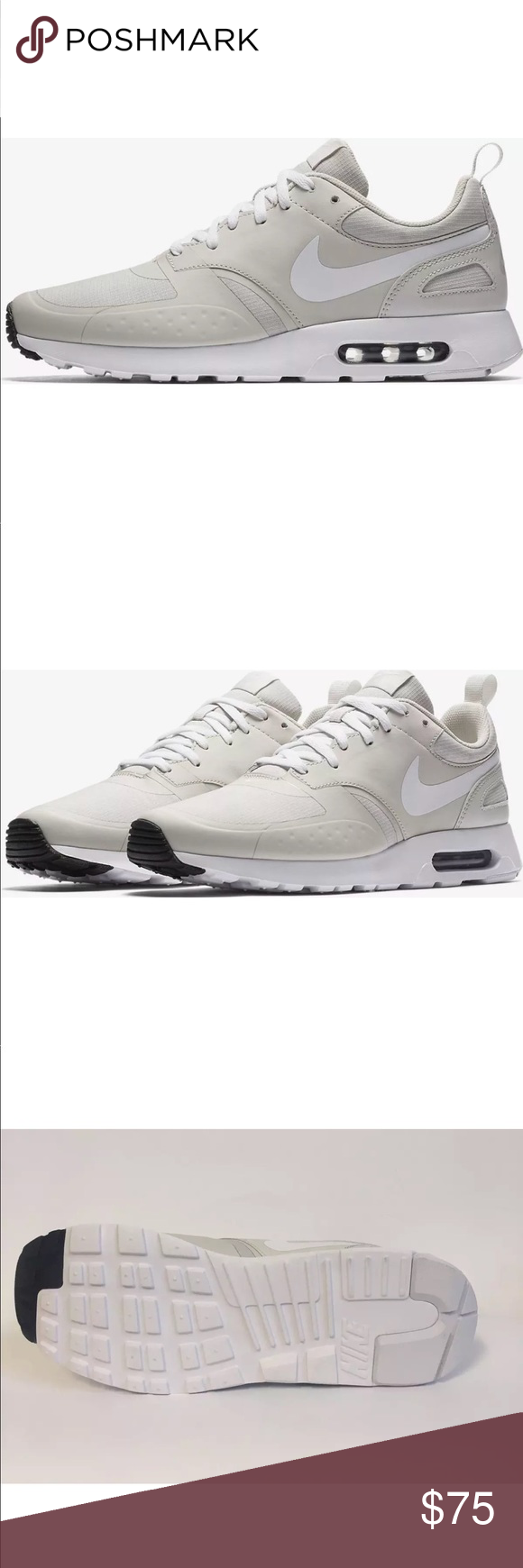 3fce28befdb4 NEW Men s 11 Nike Air Max Vision Grey Bone Beige New in Box Authentic Men s  11 Nike Air Max Vision Grey Light Bone White Beige 100% Authentic