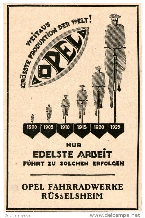 OPEL vintage ad poster ROBERT R WILDHACK Germany 1911 24X36 HOT RARE NEW