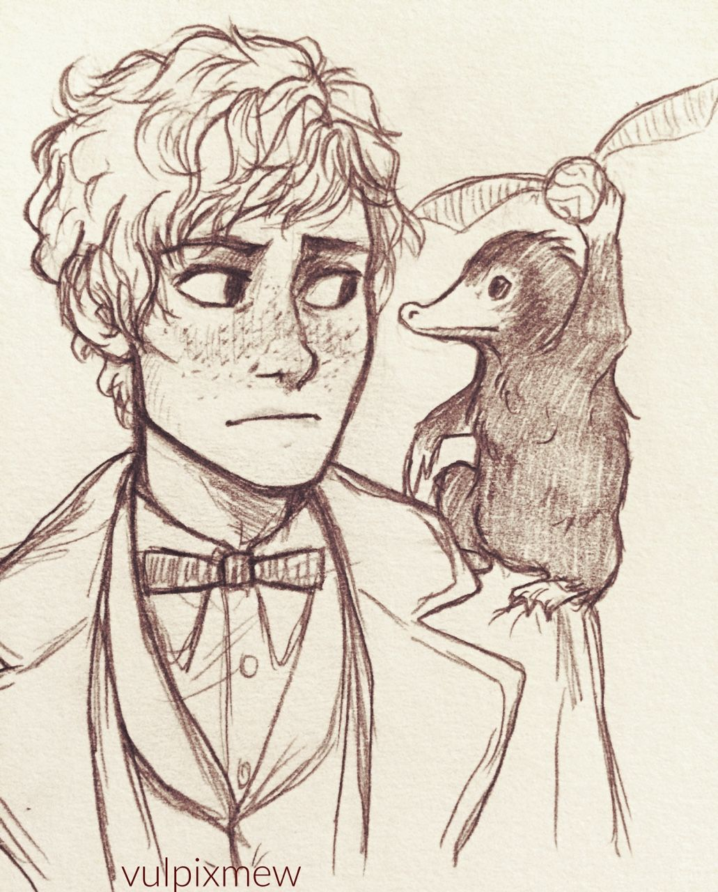 Niffler Holds The Snitch Newt Where Did You Even Get That
