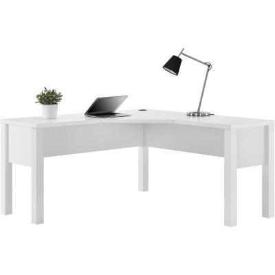 Ameriwood Home Marston White L Shaped Desk Hd20385 White L