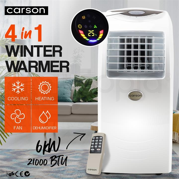 Carson 4in1 Portable Air Conditioner Reverse Cycle Heater
