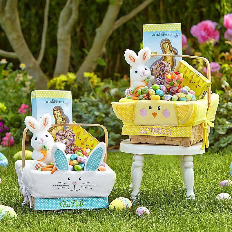 This wood basket comes all dressed up and ready for your little easter negle Image collections
