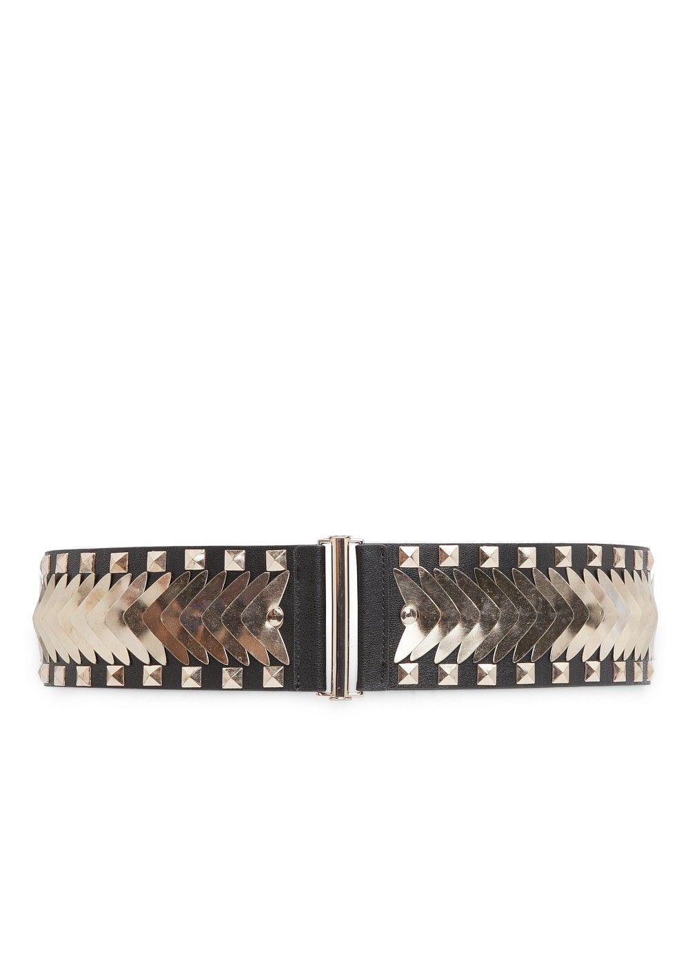 Cinturón elástico tachuelas - Mujer  7692a7bfe6b3