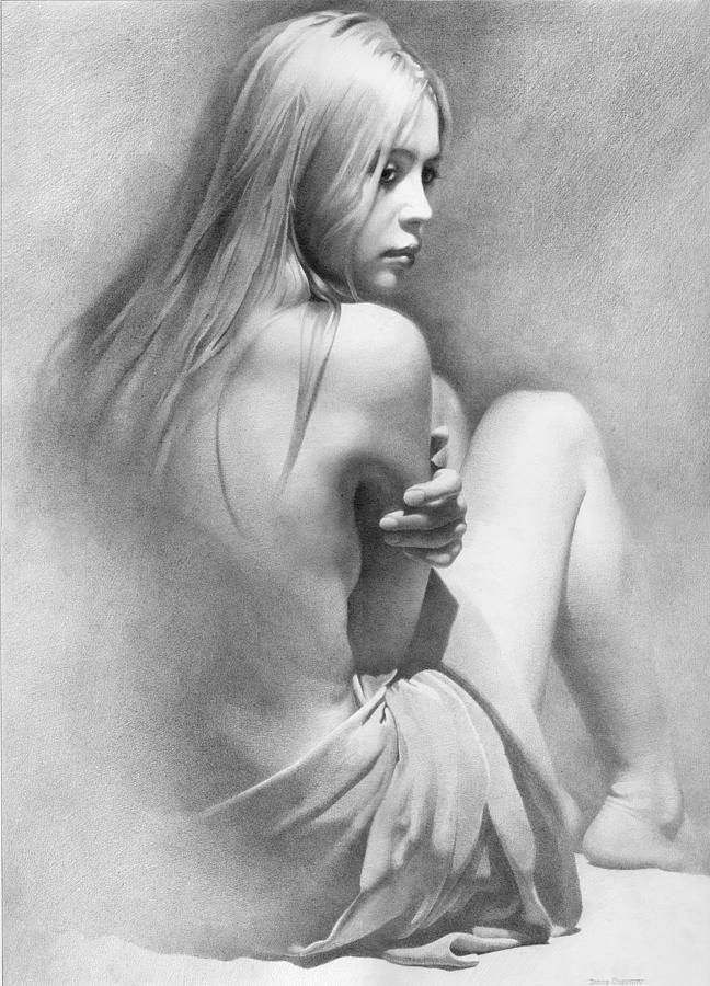 erotic woman Drawing pencil