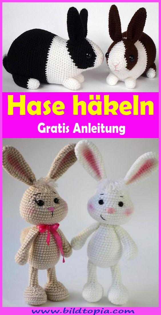 Hasen mit süßen Hasenohren häkeln - kostenlose Anleitung - Talu.de | 1100x564