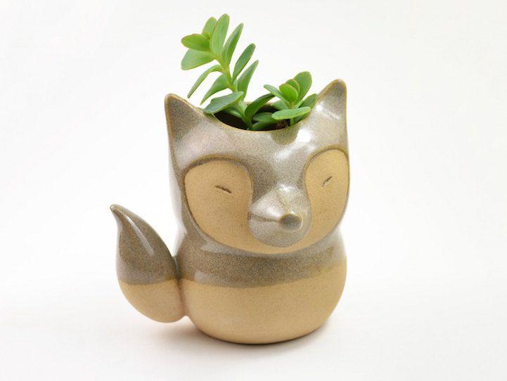 Adorably Tiny Animals Fashioned Into Ceramic Succulent Planters Ceramic Succulent Ceramic Animals Ceramic Succulent Planter