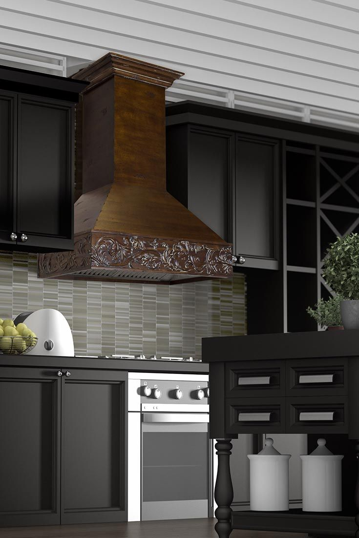 A Zline Kitchen 373rr Craftsman Wall Mount Wood Range Hood Is