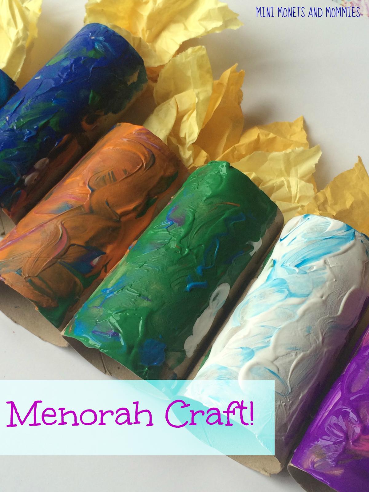Hanukkah Menorah Kids Craft
