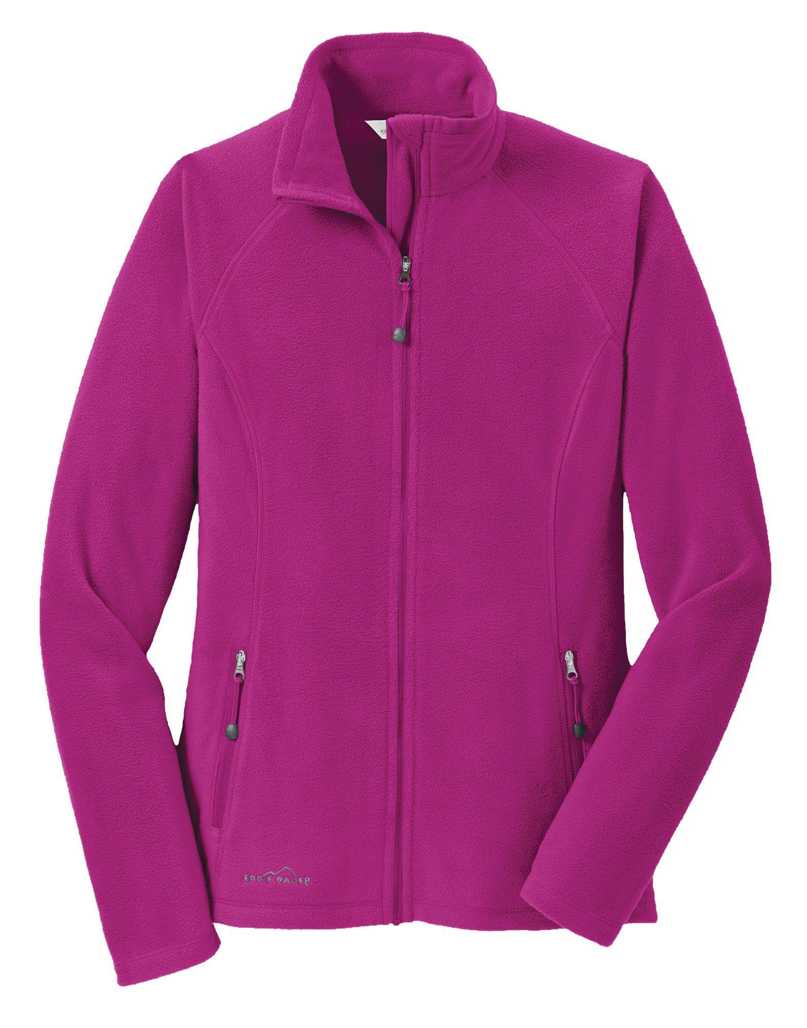 Custom Eddie Bauer® Ladies FullZip Microfleece Jacket
