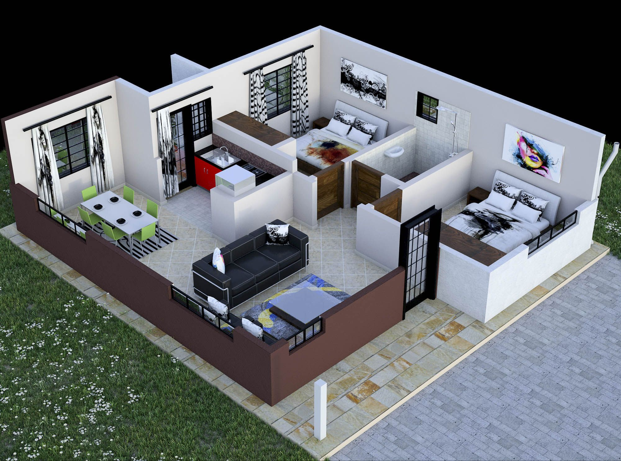 bedroom house plan in kenya with floor plans amazing design also akorograce on pinterest rh
