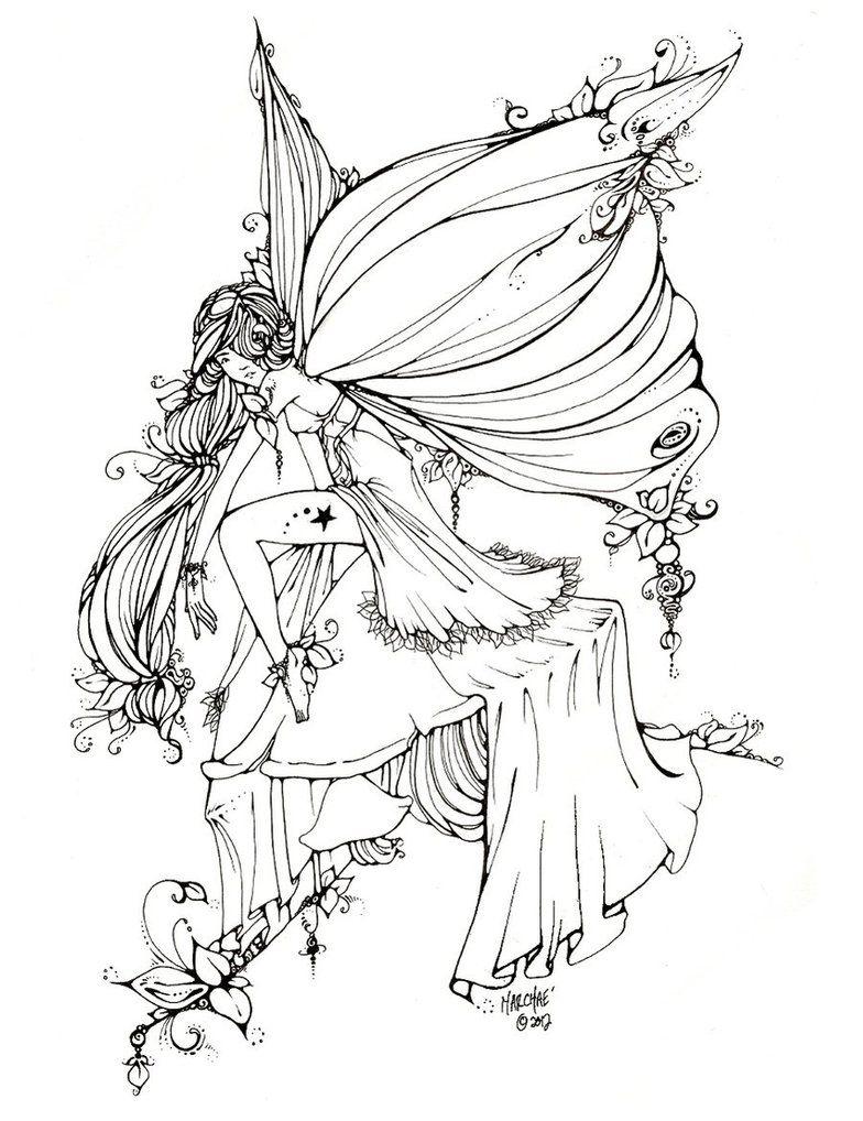 Leaf Fairy Line Art By Uglitry On Deviantart Kleurboek Kleurplaten Voor Volwassenen Kleurplaten