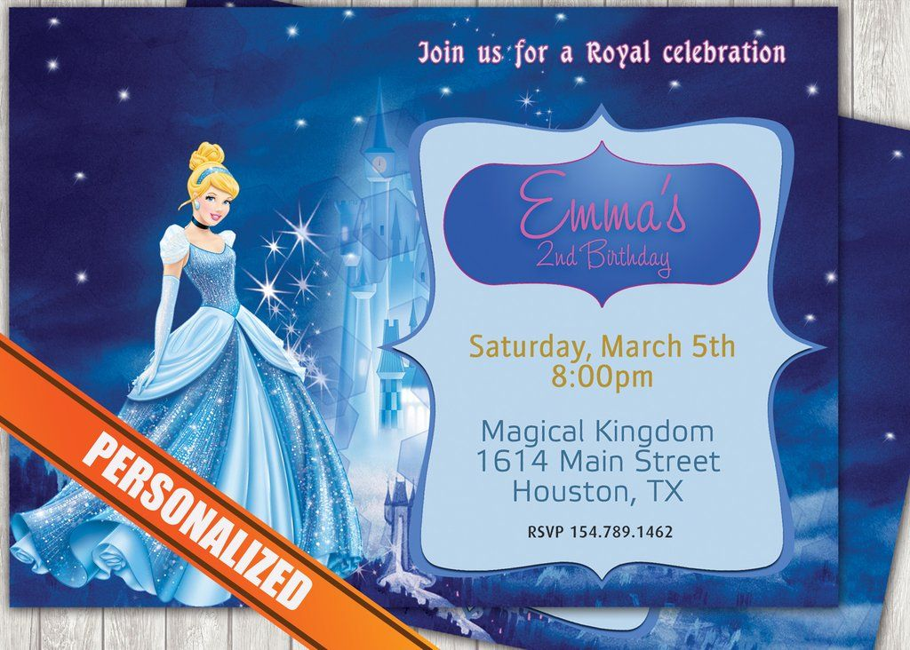 Cinderella Greeting Card Pc095 Party Invites Greeting Cards