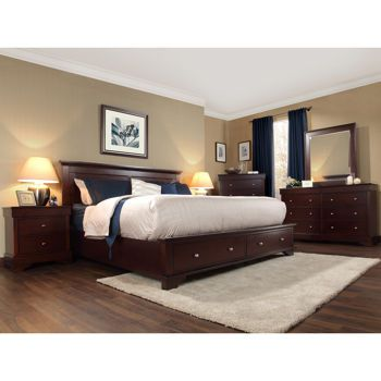 Hudson 6 Piece King Storage Bedroom Set I Think This Would Look