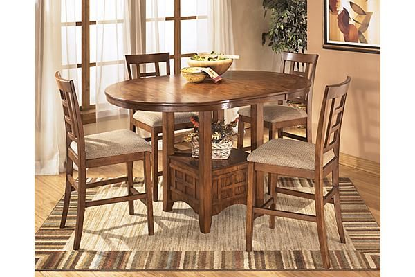 The Cross Island Counter Height Extension Butterfly Dining Room
