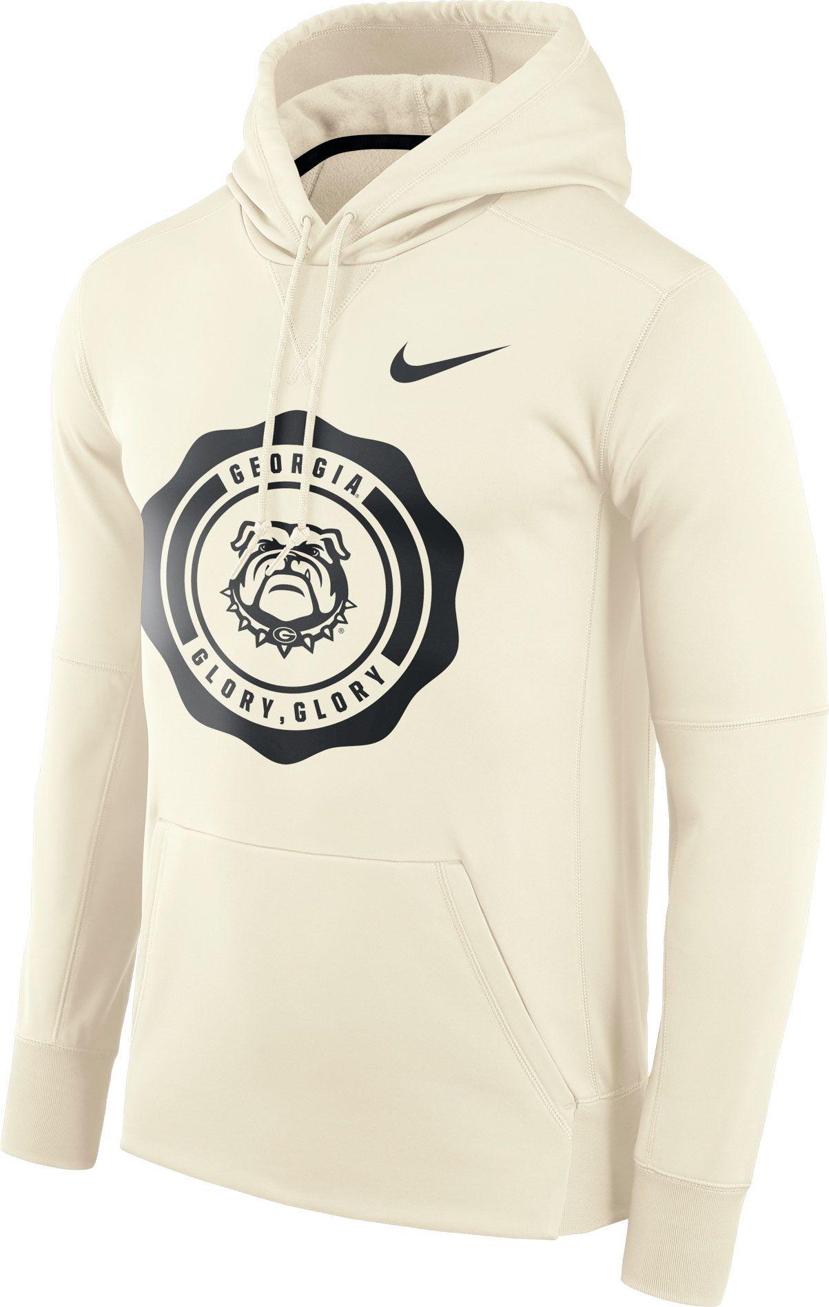 76b5508b5 Nike Men's Georgia Bulldogs Therma-FIT Rival White Pullover Hoodie, Team