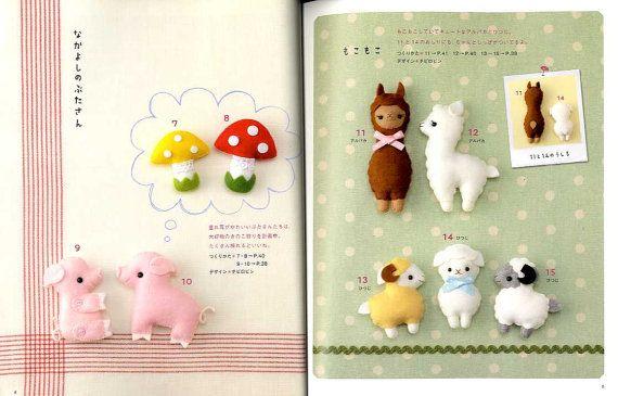 Easy Kawaii Felt Handmade Mascots Japanese Craft Book 19 00 Via