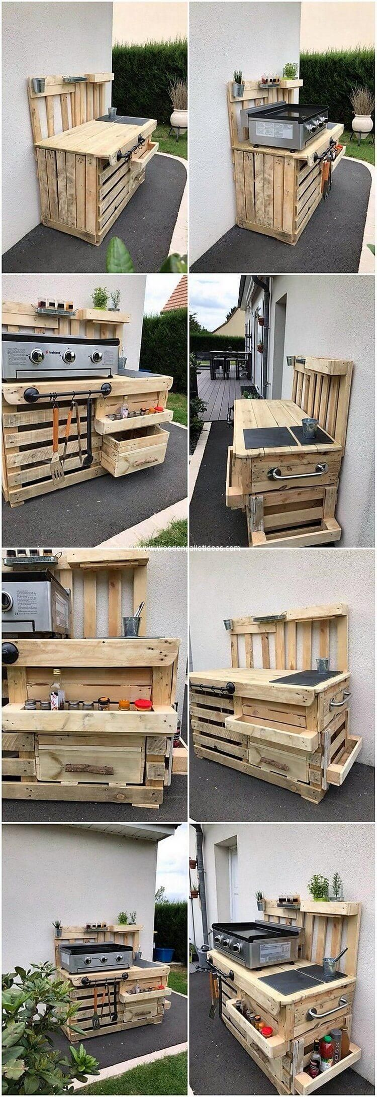 Recycled Wood Pallet Outdoor Kitchen Idea Pallet Outdoor Kitchen Ideas Pallet Outdoor Wood Pallets