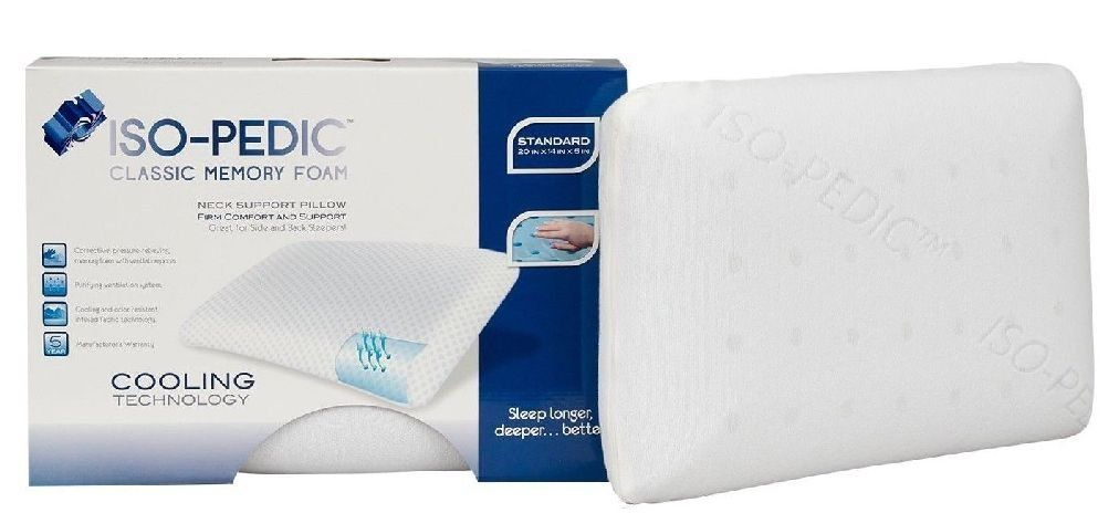 Amazon Com Iso Pedic Memory Foam Classic Pillow Standard Size