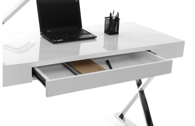 Bureau design blanc laqué luca zoom appart bureau design