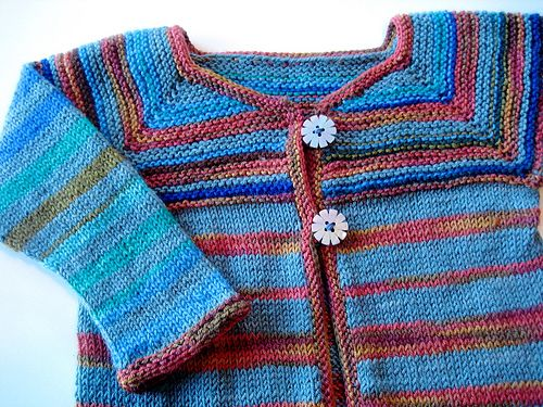 7ad6fc053673 Another sweater to use up leftover sock yarn (free pattern) I love ...
