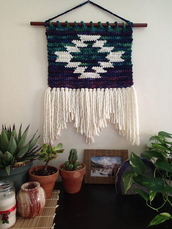 Small Mountain And Mesa Wall Hanging Crochet Pattern Size Small