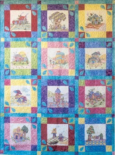 Periwinkle Lane Block 13 Quilts Houses Towns And Such