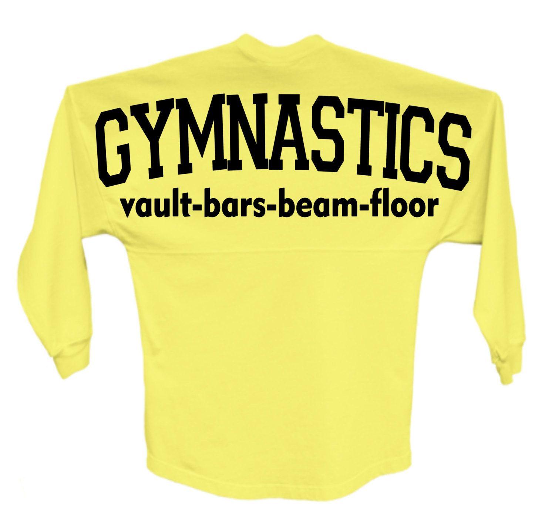 gymnastics spirit jersey style shirt oversized decal on
