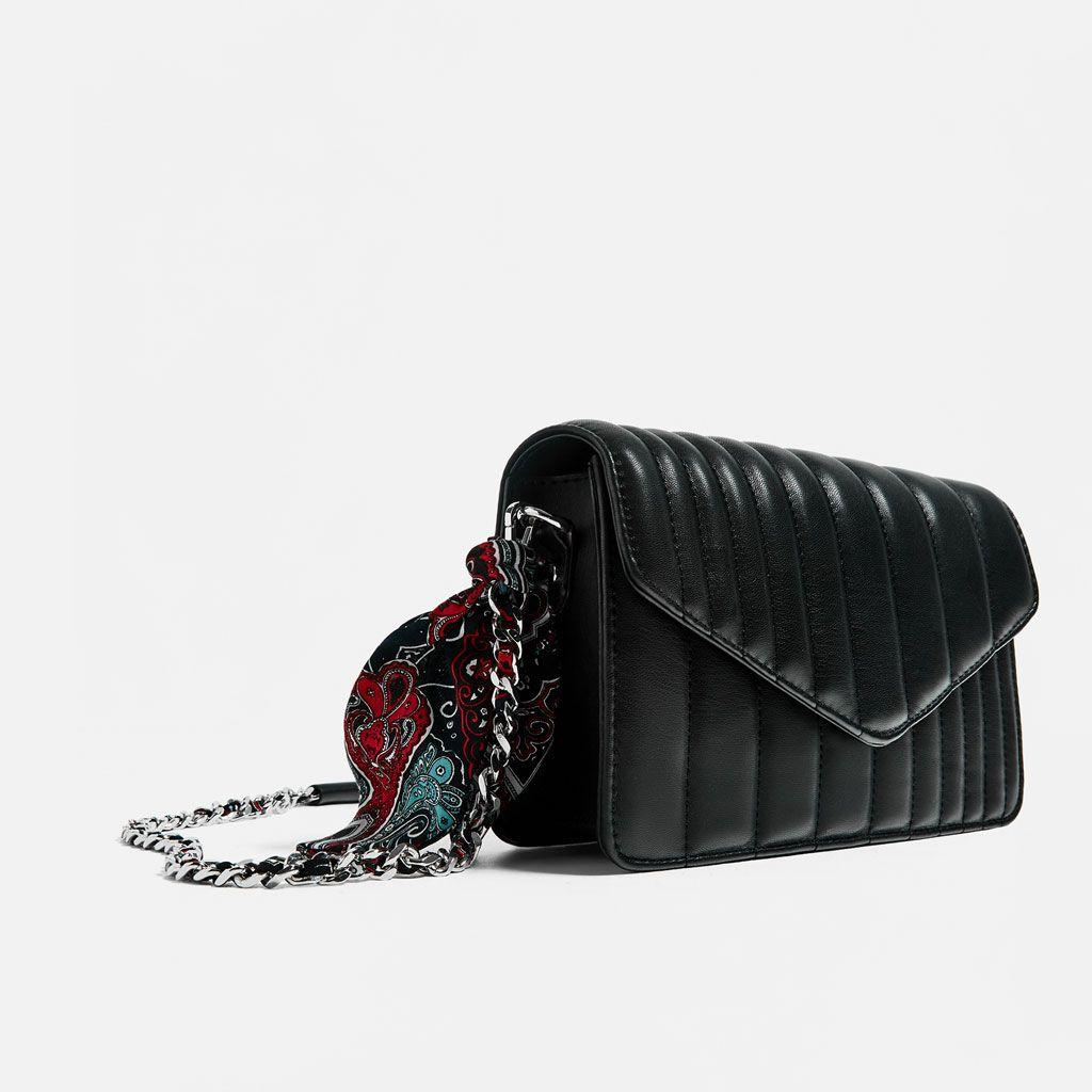 44274645 Image 1 of QUILTED CROSSBODY BAG WITH SCARF from Zara   Çapraz çanta ...
