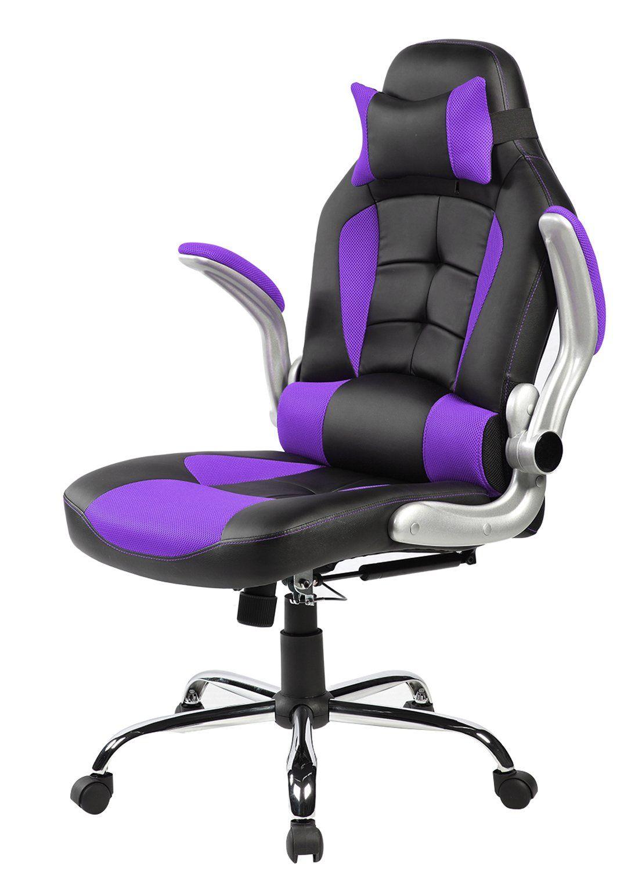 Gaming Desks Purple Decor Leather Office Chair Purple