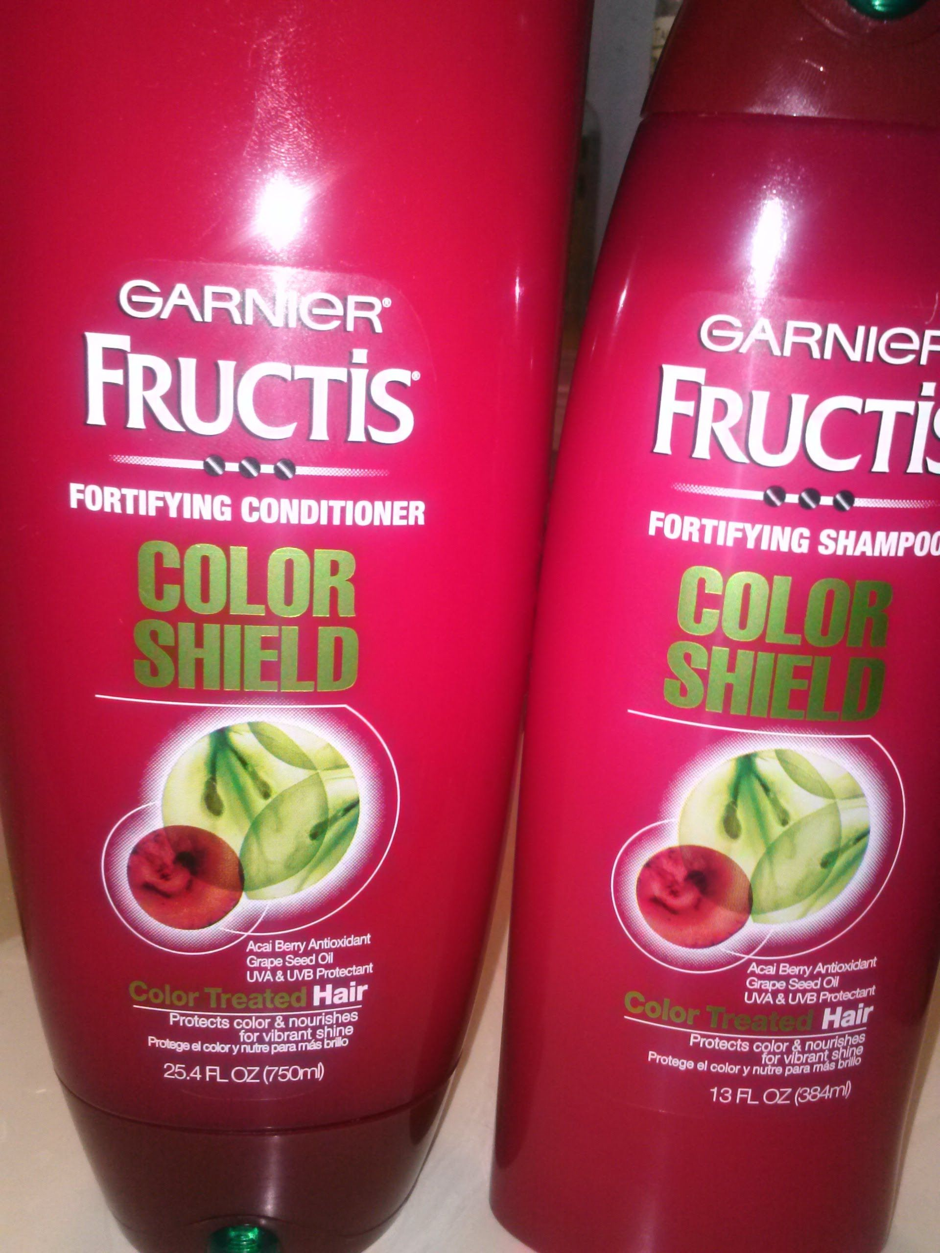 Garnier Fructis Fortifying Shampoo And Conditioner Color Shield On
