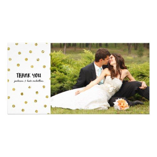 Confetti Wedding Thank You Cards Glam Confetti | Faux Foil Wedding Thank You Card