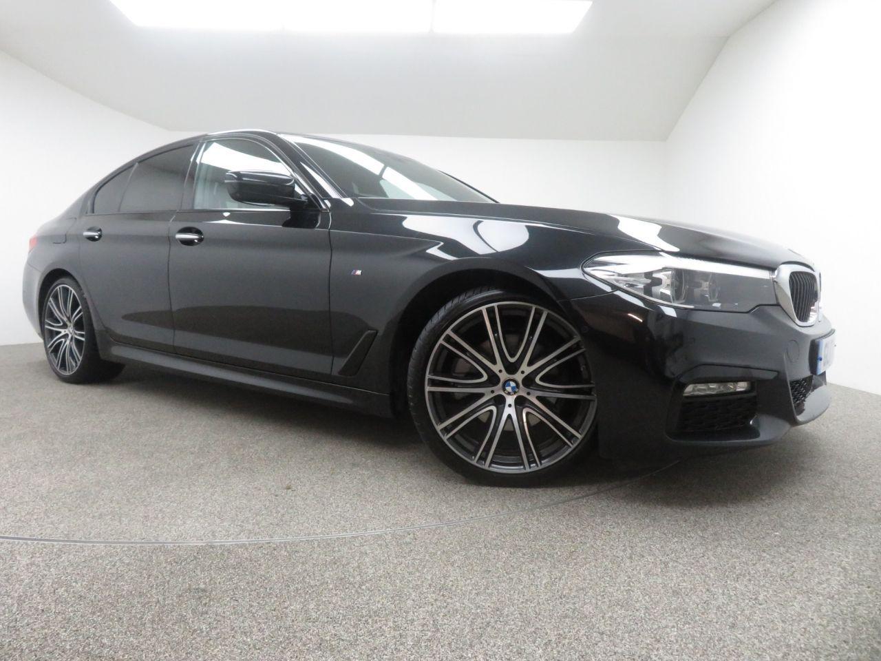 2017 Black Bmw 5 Series Saloon 2 0 520d Xdrive M Sport 4d Auto 188
