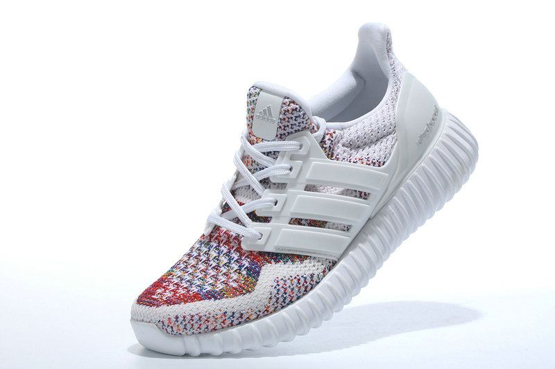 sports shoes 68309 aa8ae WMNS Adidas Yeezy Ultra Boost 2016 GS White Multi Color UK Trainers 2017 Running  Shoes 2017