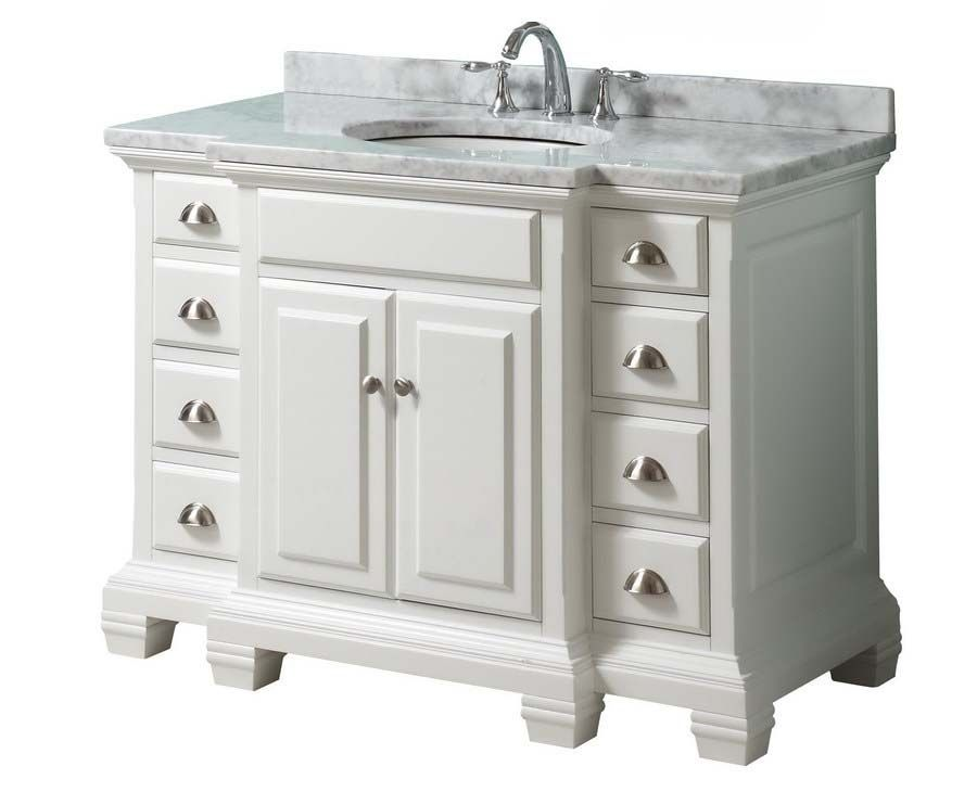 White bathroom vanity 36 inch Guest bath Pinterest White