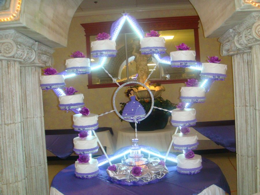 Cake Decorating Ideas For Quinceanera : Quinceanera cake with a star base Cakes and Cupcakes for ...