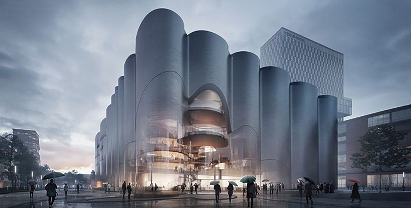 Zaha hadid mecanoo honorably mentioned for munich for Interior design munich