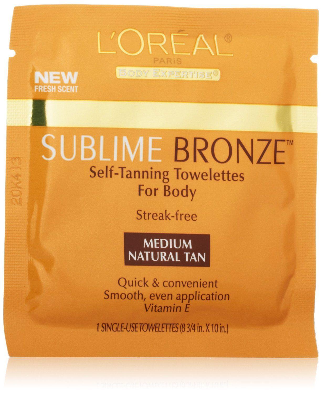 Amazon.com: L'Oreal Paris Sublime Bronze Self-Tanning Towelettes for Body, 6 CT: Beauty
