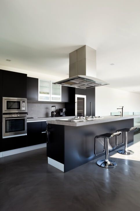 52 Dark Kitchens With Dark Wood Or Black Kitchen Cabinets Modern