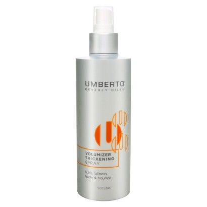 Target - Umberto Thickening Spray - 9 oz. - $9.99 - Online Item #: 14522769 - Store Item Number (DPCI): 063-00-1802 - Purpose: Volumizing, Type of Hair: Fine, Product Form: Spray