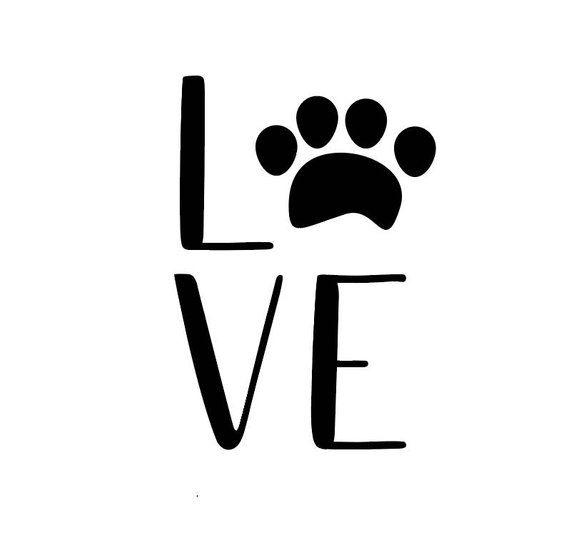 Download paw print love SVG, love paw SVG, paw svg, puppy love svg ...